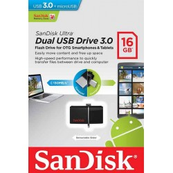 Dual USB Flash Drive 3.0 16GB Sandisk - 619659123789