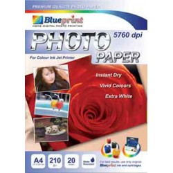 Glossy Photo Paper 20PC 190GSM Blueprint - 8997031730025