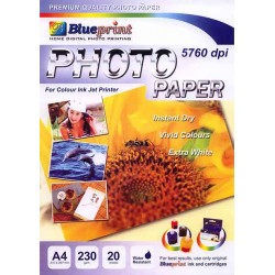 Glossy Photo Paper 20PC 230GSM Blueprint - 8997031730018