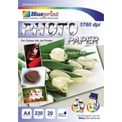 Glossy Photo Paper 20PC 230GSM Blueprint - 8997031730032