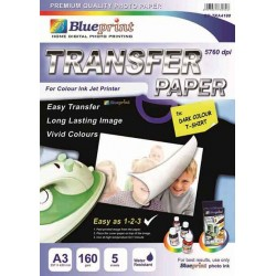 T-Shirt Transfer Paper Dark 5PC 160GSM Blueprint - 8997031730209