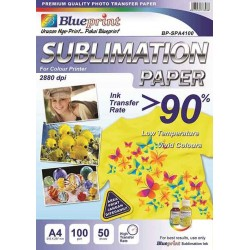 A4 Sublimation Paper 50PC 100GSM Blueprint - 8997031733088