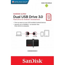 Dual USB Flash Drive 3.0 32GB Sandisk - 619659123796