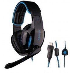 Gaming Headset Snuk Blue SA-902 SADES - 6956766900013