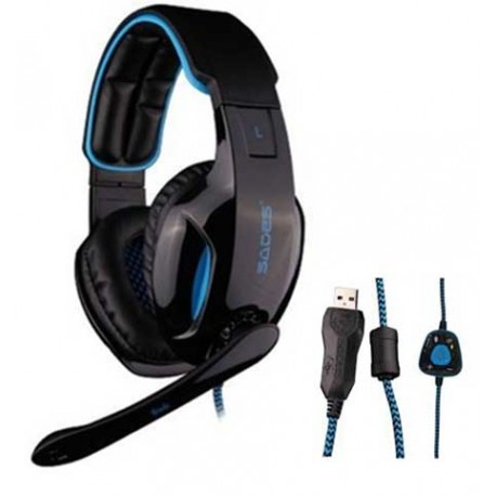 Gaming Headset Snuk Blue SA-902 SADES - 6956766900013