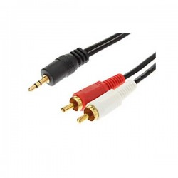 Kabel Audio Aux. 3.5mm to 2 RCA 1.5m - 10000197700