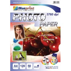 GLOSSY PHOTO PAPER 50PC 120GSM BLUEPRINT - 8997031730216