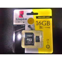 Micro SDHC Card Class 10 16GB Kingston - 740617281866