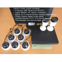 Low Cost: 9 Kamera CCTV 2MP Dahua, HDD 2TB, Kabel 90m