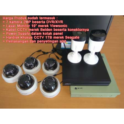 Low Cost: 7 Kamera CCTV 2MP Dahua, HDD 1TB, Kabel 60m