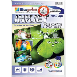A4 Inkjet Paper 100PC 85GSM Blueprint - 8997031735587