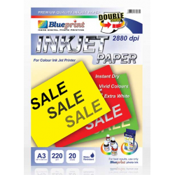 Double Sided Inkjet Paper 20PC 220GSM Blueprint - 8997031730087