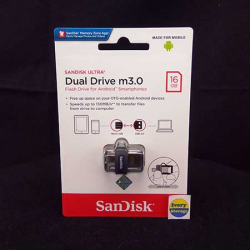 Dual Flashdisk 16GB Sandisk m3.0 USB3.0 - 619659149543