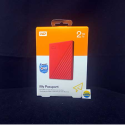 WD NEW MY PASSPORT 2TB RED HDD EKSTERNAL USB3.0 - 718037870168