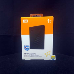 WD NEW MY PASSPORT 1TB BLACK HDD EKSTERNAL USB3.0 - 718037869469
