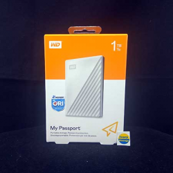 WD NEW MY PASSPORT 1TB WHITE HDD EKSTERNAL USB3.0 - 718037880969