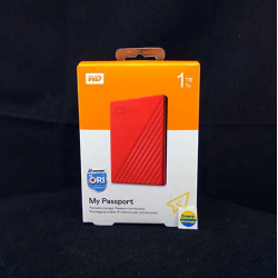 WD NEW MY PASSPORT 1TB RED HDD EKSTERNAL USB3.0 - 718037870090