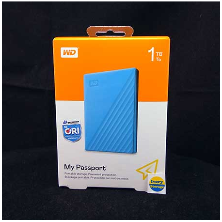 WD NEW MY PASSPORT 1TB BLUE HDD EKSTERNAL USB3.0 - 718037870137