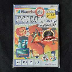 A4 Glossy Sticker 20PC 120GSM Blueprint - 10000116700