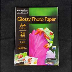 BLUEPRINT LITE GLOSSY PHOTO PAPER 190GSM A4 20PC - 8997031739134
