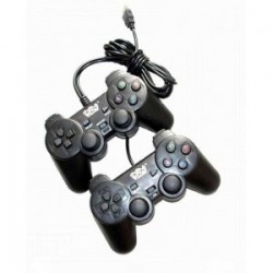 Double shock controller Black Welcom/M-Tech - 10000144000