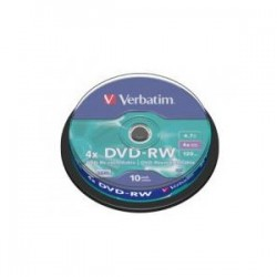 DVD-RW 4X 10-Pack Spindle Verbatim